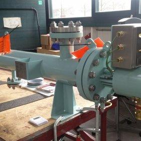 Взрывозащищённый (Ex-d) проточный нагреватель топливного газа 25 кВт, 3х400 В